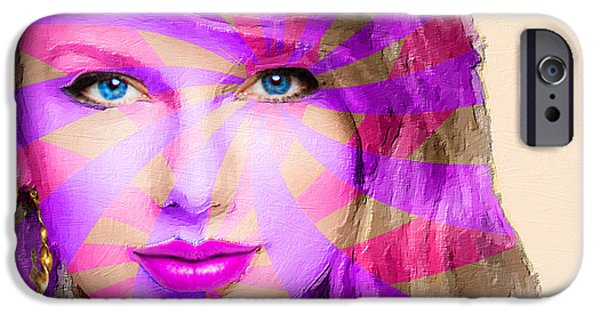 Taylor Swift iPhone Cases - Taylor Swift Pink Horizontal iPhone Case by Tony Rubino