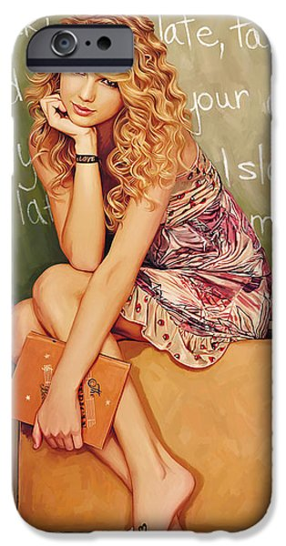 Taylor Swift iPhone Cases - Taylor Swift Artwork iPhone Case by Sheraz A
