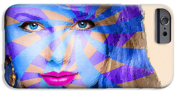 Taylor Swift iPhone Cases - Taylor Swift Blue Horizontal iPhone Case by Tony Rubino