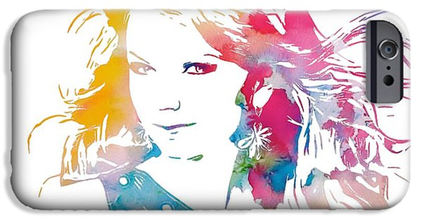 Taylor Swift iPhone Cases - Taylor Swift Watercolor iPhone Case by Dan Sproul