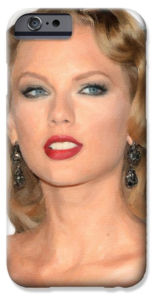 Taylor Swift iPhone Cases - TaylorSwift iPhone Case by Anthony Caruso