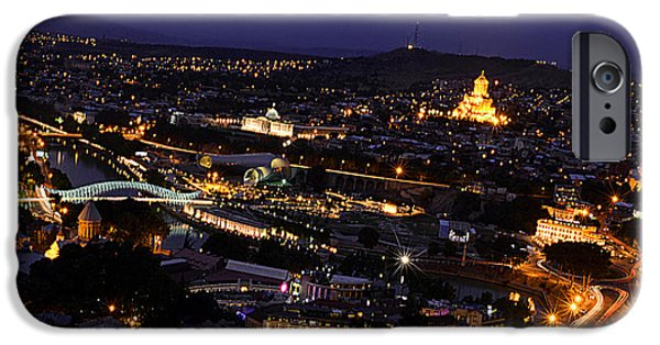 Tbilisi Photographs iPhone Cases - Tbilisi at night iPhone Case by Armine Yepremyan