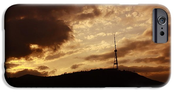 Tbilisi Photographs iPhone Cases - Tbilisi Mast iPhone Case by George Ch