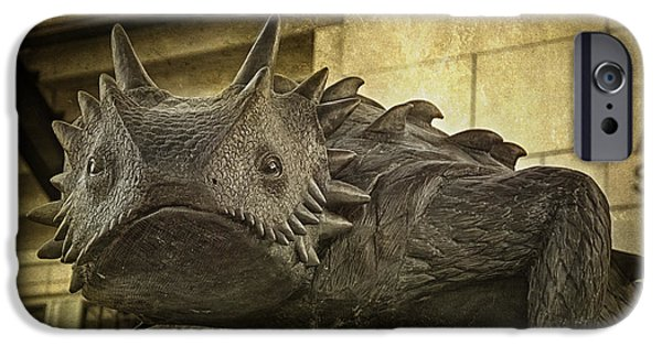 Frogs Photographs iPhone Cases - TCU Horned Frog iPhone Case by Joan Carroll