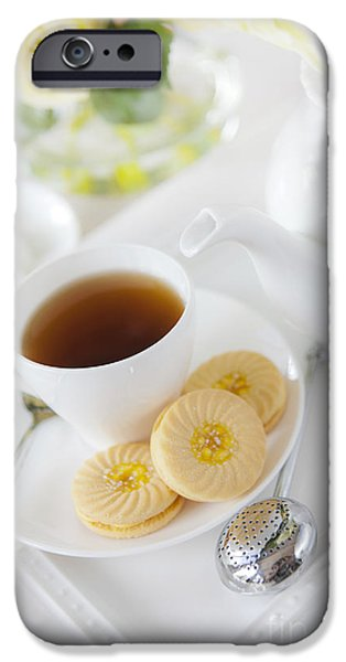 Cookie iPhone Cases - Tea and Cookies iPhone Case by Diane Diederich