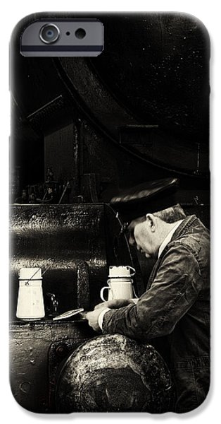 Historical Re-enactments iPhone Cases - Tea break in the engine shed. iPhone Case by Mick Gosling