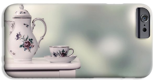 Tea Cup iPhone Cases - Tea Cup And Pot iPhone Case by Joana Kruse