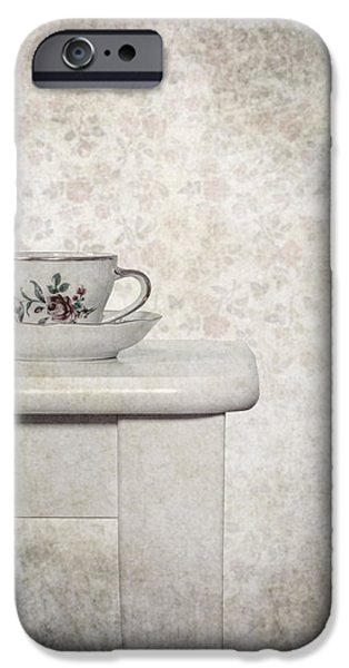 Tea Cup iPhone Cases - Tea Cup iPhone Case by Joana Kruse