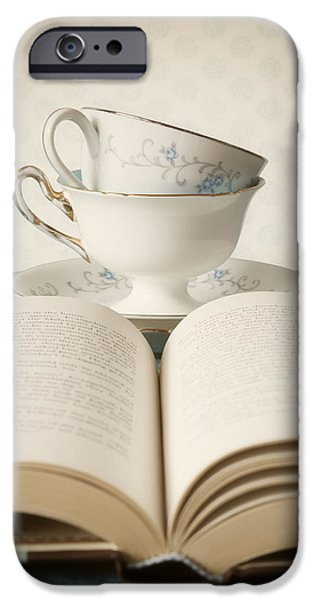 Tea Cup iPhone Cases - Tea for Two iPhone Case by Amy Weiss