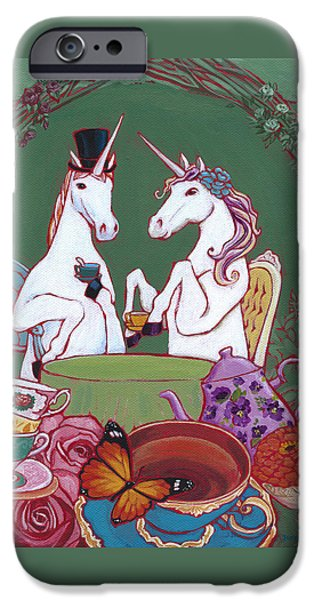 Tea Party iPhone Cases - Tea for Two iPhone Case by Jennifer Masters