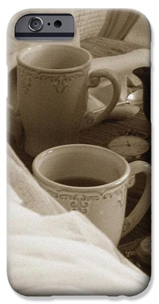 Tea Party iPhone Cases - Tea For Two iPhone Case by Mary Nickelsberg