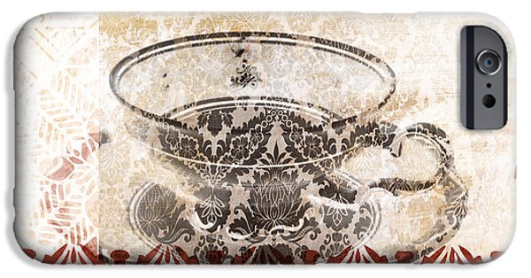 Tea Party iPhone Cases - Tea House iPhone Case by Frank Tschakert