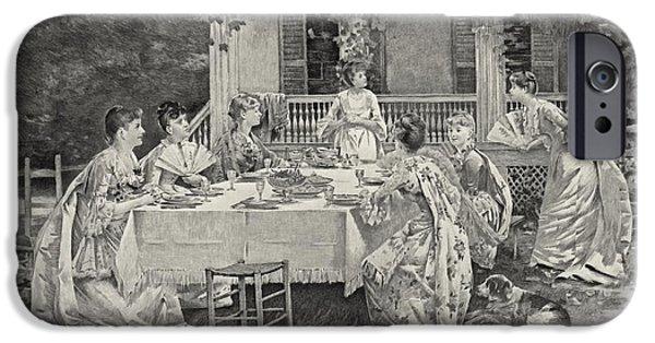 Tea Party iPhone Cases - Tea Party 1887 iPhone Case by Padre Art