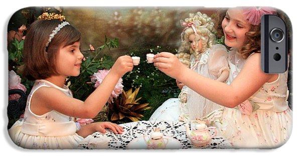 Tea Party iPhone Cases - Tea Party iPhone Case by Lindi Lambert