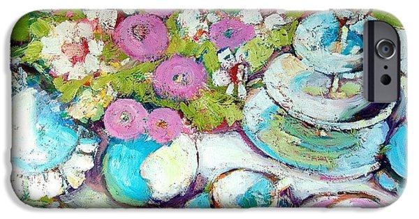 Tea Party iPhone Cases - Tea Party iPhone Case by Sue Scoggins