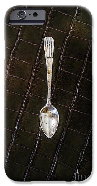 Stainless Steel iPhone Cases - Tea Spoon iPhone Case by Carlos Caetano