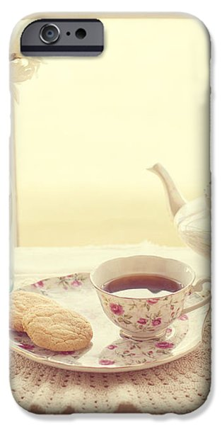 Tea Time iPhone Case by Kay Pickens