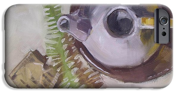 Tea Party iPhone Cases - Tea Time teapot for afternoon tea parties iPhone Case by Mary Hubley