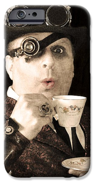 Mad Hatter iPhone Cases - Tea with the Hatter iPhone Case by Evan Butterfield