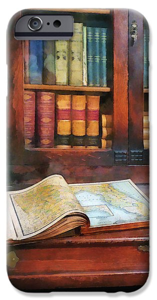 Teacher - Geography Book iPhone Case by Susan Savad
