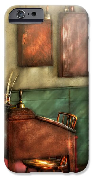 Teacher - The Teachers Desk iPhone Case by Mike Savad