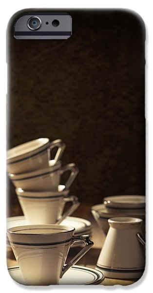 Coffee Drinking iPhone Cases - Teacups iPhone Case by Amanda And Christopher Elwell