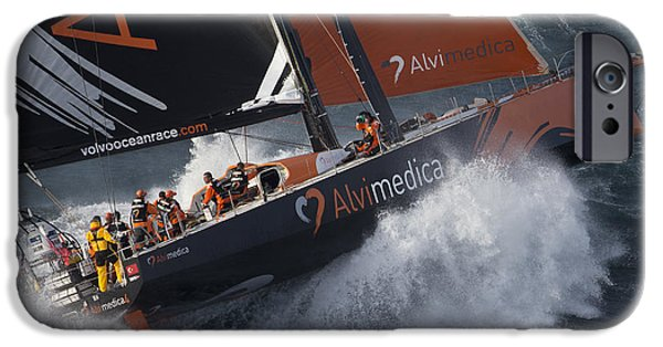Recently Sold -  - Sailing iPhone Cases - Team Alvimedica-1 iPhone Case by Gilles Martin-Raget