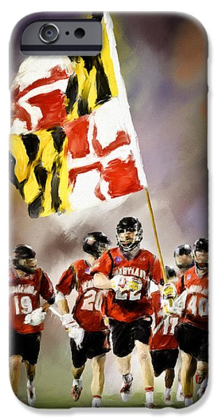 Scott Melby iPhone Cases - Team Maryland  iPhone Case by Scott Melby