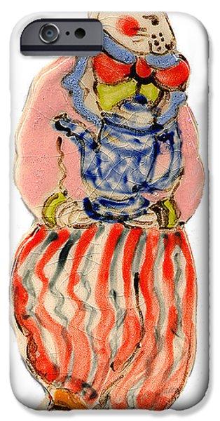 Old Ceramics iPhone Cases - Teapot Rabbit iPhone Case by Melissa Sarat