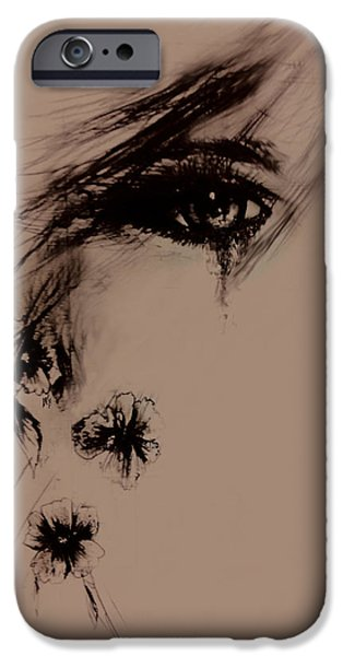 Torn Drawings iPhone Cases - Tear iPhone Case by Rachel Christine Nowicki