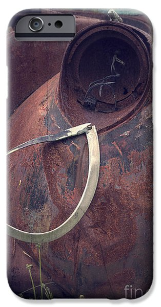Junk Yard iPhone Cases - Teardrop at the End of the Road iPhone Case by Edward Fielding