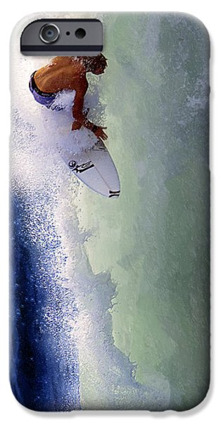 Break Fast iPhone Cases - Tearing Up Trestles iPhone Case by Ron Regalado