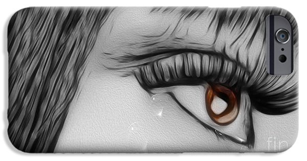 Torn iPhone Cases - Tears iPhone Case by Cheryl Young