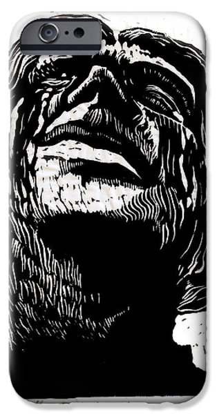 Relief Print iPhone Cases - Tears for Her Dead iPhone Case by Seth Weaver