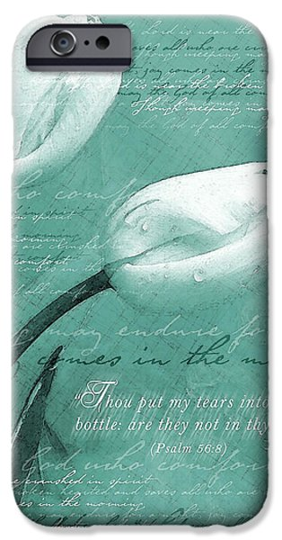 Sympathy iPhone Cases - Tears In Thy Bottle iPhone Case by Gary Bodnar