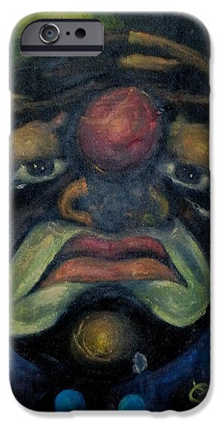 Torn iPhone Cases - Tears of a Clown iPhone Case by Charles  Thomas