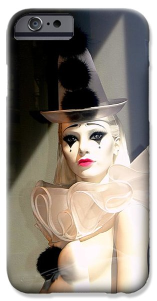 Torn iPhone Cases - Tears Of A Clown iPhone Case by Ed Weidman