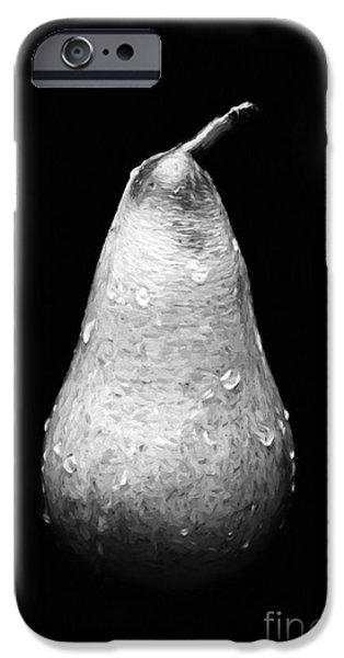 Tears Of A Sad Pear In Silver iPhone Case by Andee Design
