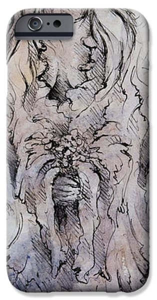 Torn iPhone Cases - Tears of an Angel iPhone Case by Rachel Christine Nowicki
