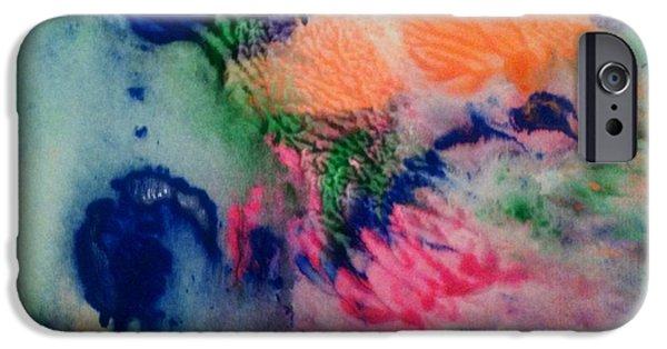 Maya Telford iPhone Cases - Tears of Blue iPhone Case by Maya Telford