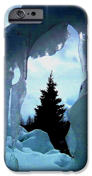 Pines Pyrography iPhone Cases - Tears of ice.. iPhone Case by Cristina Mihailescu