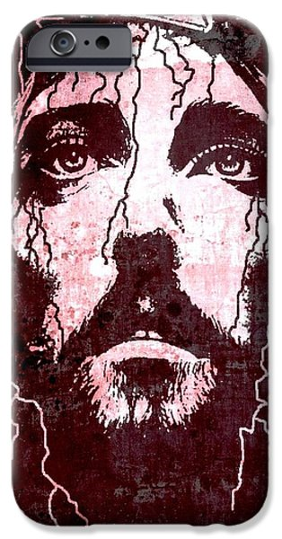 Best Sellers -  - Torn iPhone Cases - Tears of Jesus iPhone Case by Mike Grubb