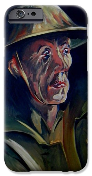 Ww1 Paintings iPhone Cases - Tears of War iPhone Case by Terence R Rogers