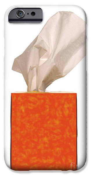 Tissue iPhone Cases - Tears Quencher  iPhone Case by Olivier Le Queinec