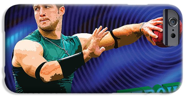 Tebow iPhone Cases - Tebow iPhone Case by John Keaton