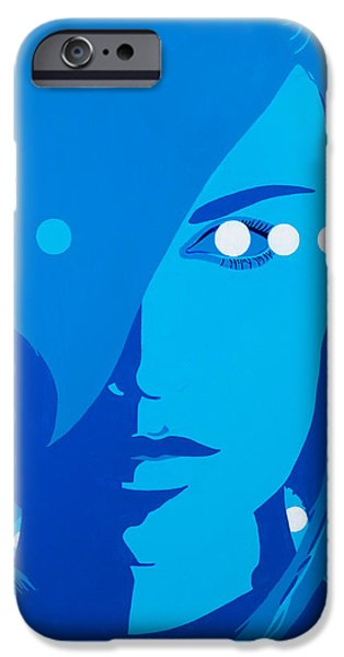 Abstract Expressionism iPhone Cases - Techno Girl iPhone Case by Joe Ciccarone