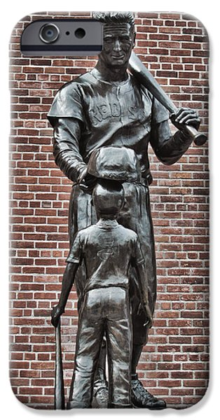 Ted Williams Statue - Boston iPhone Case by Joann Vitali