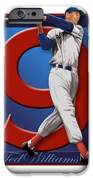 Williams Ted iPhone Cases - Ted Williams iPhone Case by Ron Regalado