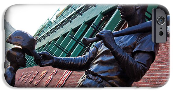 Williams Ted iPhone Cases - Ted Williams Statue iPhone Case by John McGraw