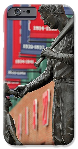 Fenway Park iPhone Cases - Ted Williams Tribute iPhone Case by Juergen Roth